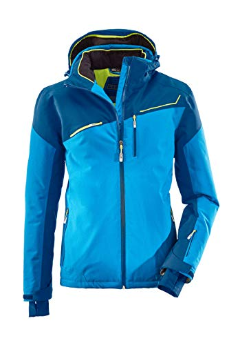 killtec Skijacke Herren Den - Snowboardjacke Herren mit Schneefang - wasserdichte Jacke mit Skipasstasche - atmungsaktiv, ocean, L
