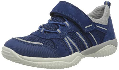 Superfit Jungen STORM Sneaker, (Blau/Hellgrau 80), 27 EU