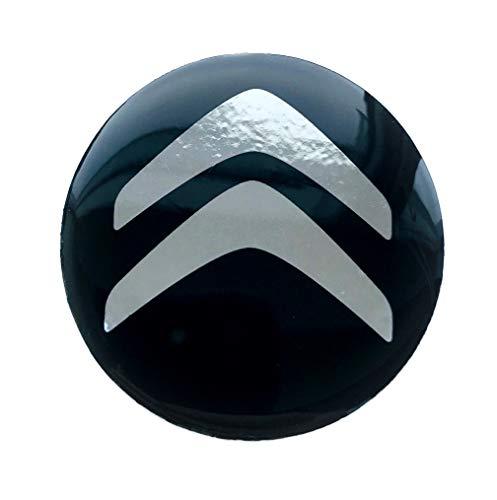 LogoEmbl Aufkleber 4 x 50 mm embleme kompatibel mit Citroen radkappen nabenkappen nabendeckel Silikon