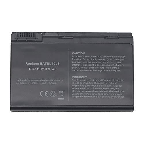 BTMKS BATBL50L6 - Batería para Acer Aspire 3100, 3650, 3690, 5100, 5101, 5102, 5103, 5110, 5200, 5610, 5630, 5650, 5680, BATBL50L8H y BATBL50L4H BATBL50. Batería L6H BATBL50L8H BATBL50L8