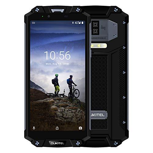 OUKITEL WP2 Outdoor Handy 10000mAh IP68 Smartphone, ohne Vertrag 6 Zoll FHD+ Display 4GB RAM 64GB Dual SIM, 16MP+2MP+8MP Wasserdicht Stoßfest Staubdicht Fingerabdruck NFC- Schwarz