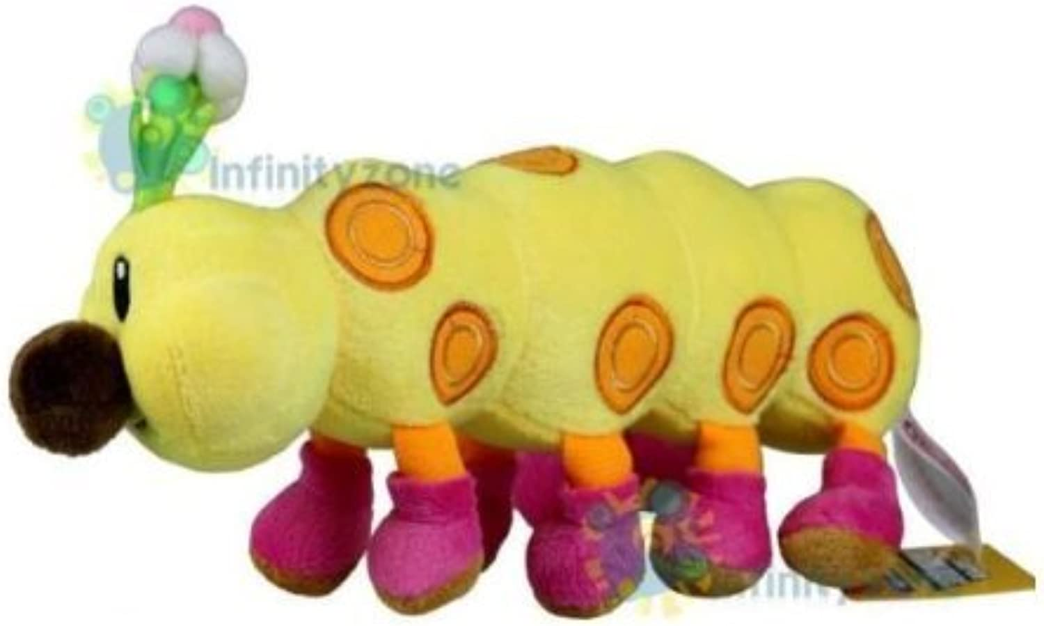 Super Mario Wiggler Plush Doll  11 Long by Super Mario Bredhers