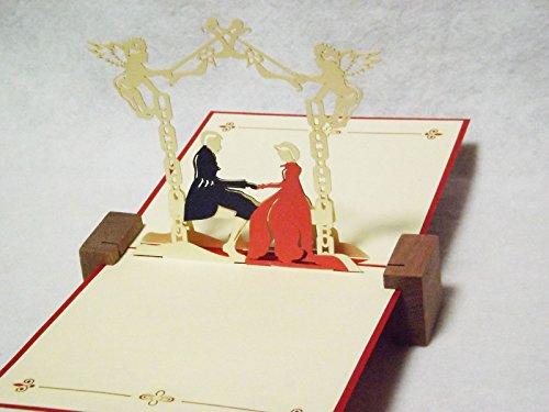 全100種以上 立体ポップアップ グリーティングカード:騎士とお姫様 L-44 誕生日・ギフトカード・友達・ウェディング・おめでとう・結婚祝い・感謝状・告白・招待状・出産祝い・メッセージカード・バレンタイン