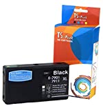 TS-Print 79XL 79 XL Epson Remanufacturado Cartucho de Tinta Negro (Black) reemplaza T7901 XL T7911 XL para Impresora Workforce Pro WF-4630DWF WF-4640DTWF WF-5110DW WF-5190DW WF-5620DWF WF-5690DWF