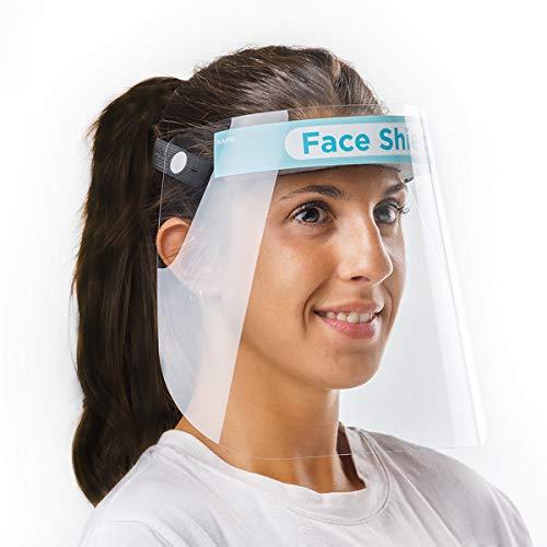 Pantalla facial que protege contra salpicaduras y proyecciones directas. Material desinfectable. Comodidad garantizada: Adaptable al contorno de la cabeza con cinta elástica, sin elementos duros que causen fricción o incomodidad. Totalmente fabricado...