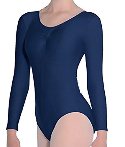 Roch Valley Leotard, Mädchen/Damen, langärmelig, Tanz/Gymnastik, blau