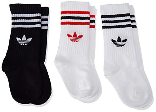 adidas Crew Sock 3P Socks, Unisex-Child, White/White/Black, KL