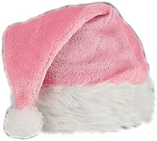 blinkee Pink Stylish Fluffy Fur Santa Christmas Plush Hat