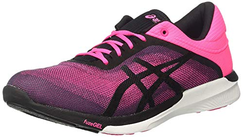 Asics ASICS Damen Fuzex Rush Laufschuhe, Pink (Hot Pink/Black/White), 37.5 EU