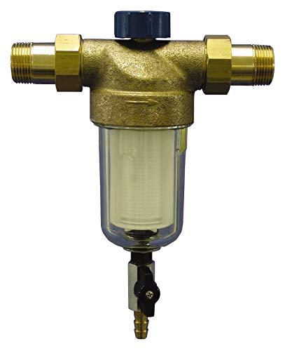 Sanitop-Wingenroth 14326 4 Hauswasserfilter rückspülbar mit 2 Außengewinden, 1 Zoll