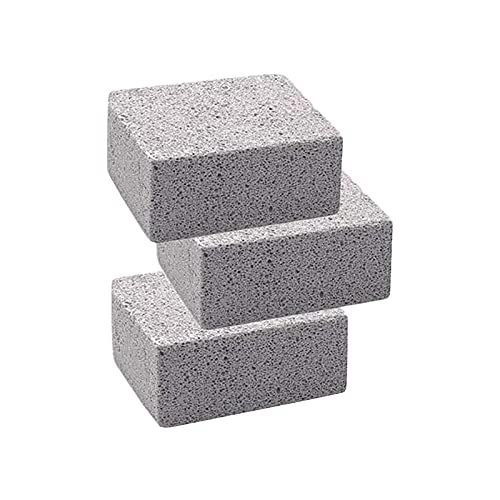 ZYuan Grill Cleaning Bricks, Pumice Grill Stone Cleaning Bricks, Dry Pot Cleaning Blocks, Suitable For Grills, Racks, Flat-Top Grills, Swimming Pools, Toilets (Color : 3pcs)