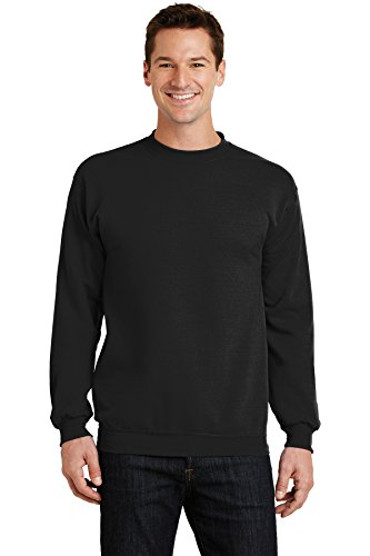 Port & Company Men's Classic Crewneck Sweatshirt L Jet Black