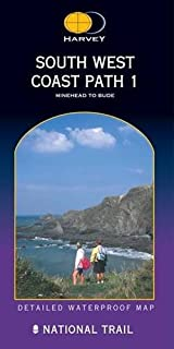 South West Coast Path 1 XT40: Minehead to Bude (Route Map)