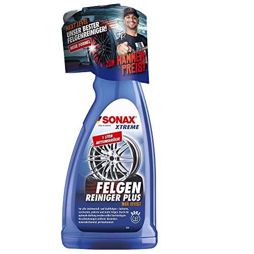 SONAX XTREME Felgenreiniger PLUS (1 Liter) effiziente und säurefreie Reinigung aller Leichtmetall- und Stahlfelgen sowie lackierte, verchromte und polierte Felgen | Art-Nr. 02313000