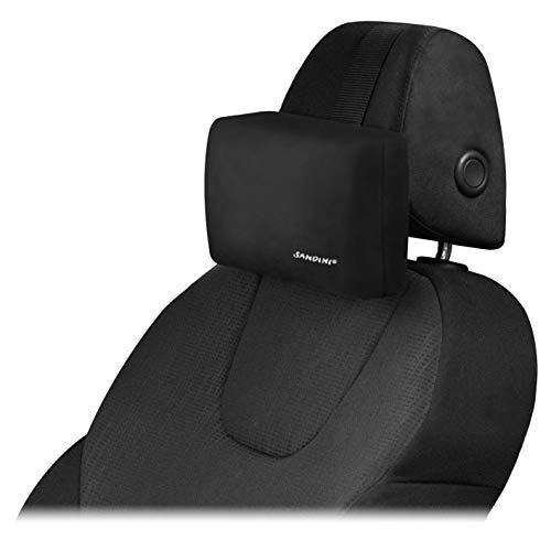 SANDINI RelaxFix® – Nackenkissen für Autositz/Nackenstützkissen/Autostützkissen – Einfache Anbringung an der Kopfstütze – Sorgt für entspanntes Anlehnen/Zurücklehnen im Auto.