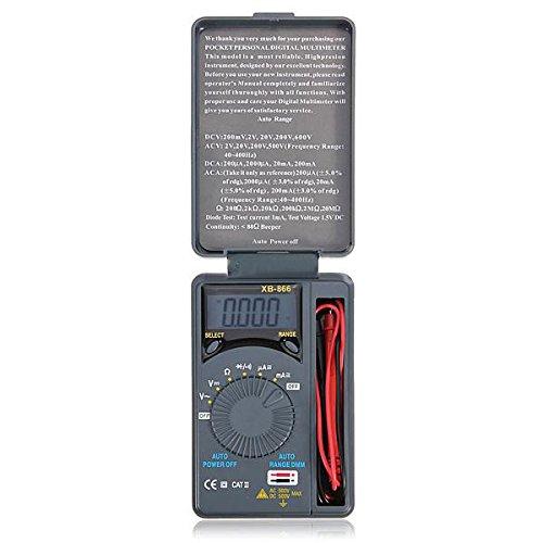 SODIAL (R) LCD Mini Auto Bereich AC/ DC-Tasche Digitales Multimeter Voltmeter Pruefvorrichtung Messgeraet