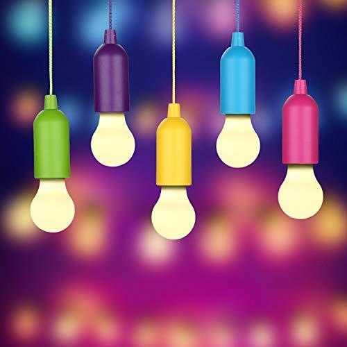 LED Lampada, Rottay Handy Lux Colors 5 Pezzi LED Lamp per Pesca, Campeggio,...