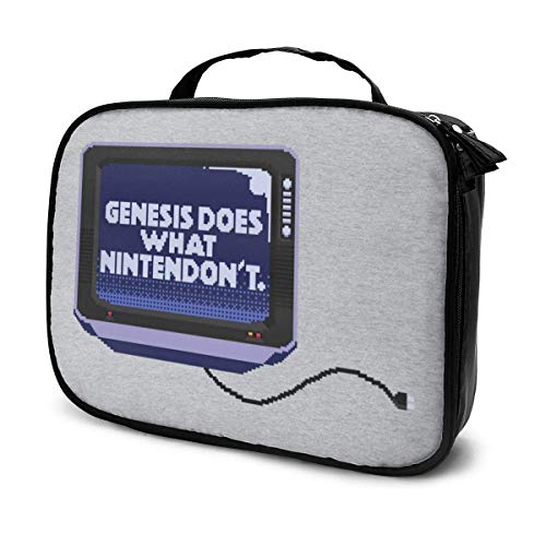Makeup Bag Cosmetic Pouch Genesis Does What Retro Gaming Consolent Multi-Functional Bag Travel Kit