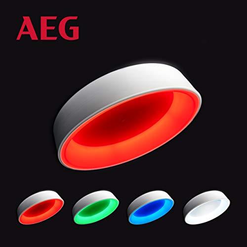 Zondra LED Deckenleuchte per Fernbedienung stufenlos dimmbar, 6500 Kelvin - kaltweißes Tageslicht, RGB-Farbwechsel, Ø50cm, 44 Watt, 1788 Lumen in weiß