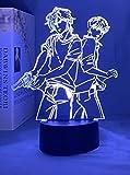Luz de Noche 3D LED Ilusión Anime Lámparas Plátano Pez Led Luz de Noche Anime para Dormitorio Regalo de Manga Gadget Banana Fish Lamp