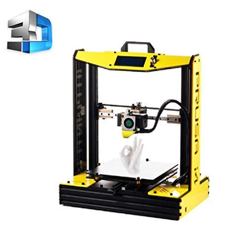 Imprimante 3D, Bureau DIY de Haute précision de qualité Industrielle Cadeau imprimante 3D Carte mémoire 8G 2KG fournit, Le Volume d'impression Maximum 210 * 210 * 190 (Color : Yellow)