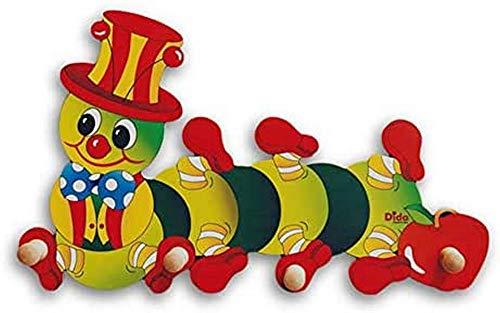 Dida - Porte-Manteaux Enfant – Chenille Pomme - Porte Manteau Mural en Bois pour Chambres d'enfant et bébé