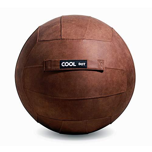 COOLDOT Ballon de Klein Yoga pour Adultes avec Housse et Poignée Inclut Un Ballon D'Exercice et Une Pompe pour la Maison, Le Bureau, Pilates, Yoga 65cm