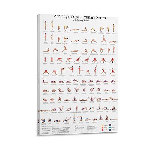 ASDZZ Ashtanga Yoga Primary Series - Póster artístico de pared (40 x 60 cm)