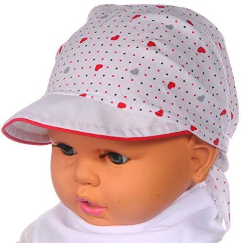 La Bortini Kopftuch Baby Kinder Sommer Mütze Mützchen Kopfbedeckung Bandana 36-45...