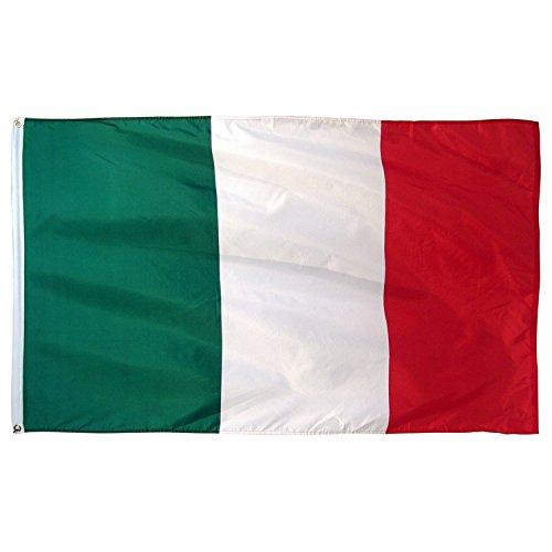 Pomcat Italie Drapeau Italien 3 x 5 pi Tri Couleur Drapeaux CJ405