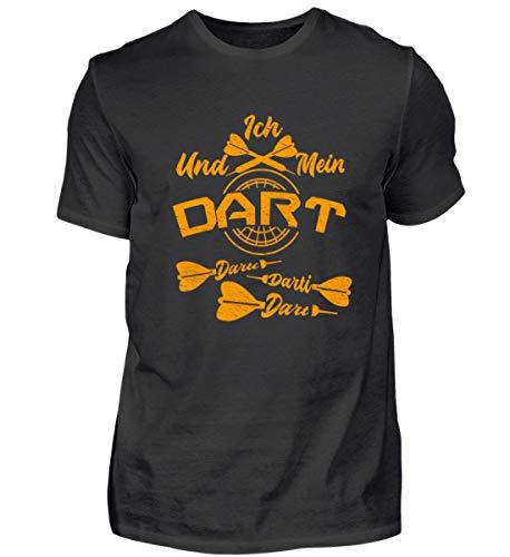Dart Darti Darten Dartsport Darttrikot Dartverein Geschenk - Herren Shirt -L-Schwarz