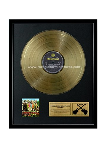 Rock Guitar Miniatures RGM1230The Beatles Sgt Pepper' S Lonely Heart Club Band Disco d' Oro 24K Placcato LP 12