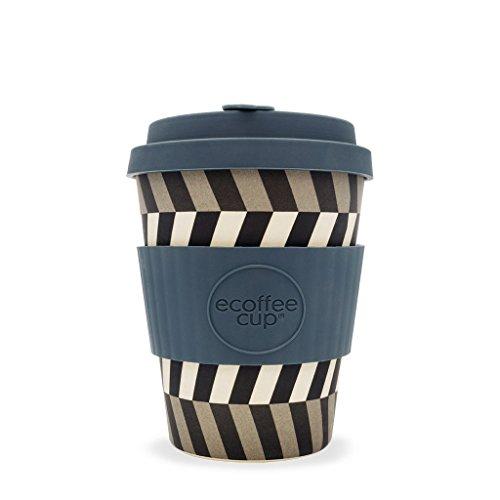 Ecoffee Cup : Look in My Eyes Tasse à café réutilisable en Silicone Bleu/Gris 340 ML