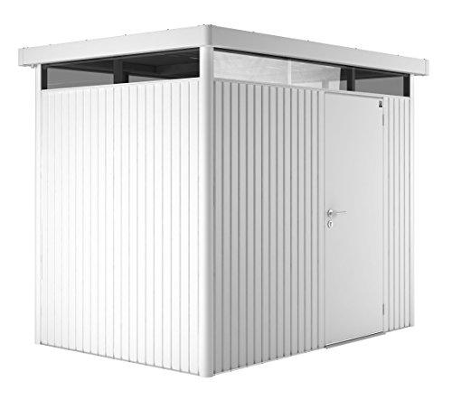 Biohort Highline H2 mit Doppeltüre weiß, 275x195cm, Geräteschrank, Gartenhaus Weiß, Gerätehaus von Gartenwelt Riegelsberger
