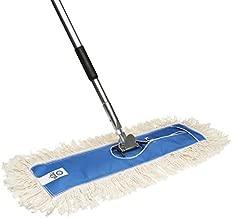 Nine Forty USA 24 Inch Commercial Cotton Dry Dust Mop Head Hardwood Floor Duster Broom Set | Handle