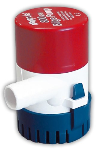 Rule 20R 800 GPH Submersible Bilge Pump, Round, 12 Volt