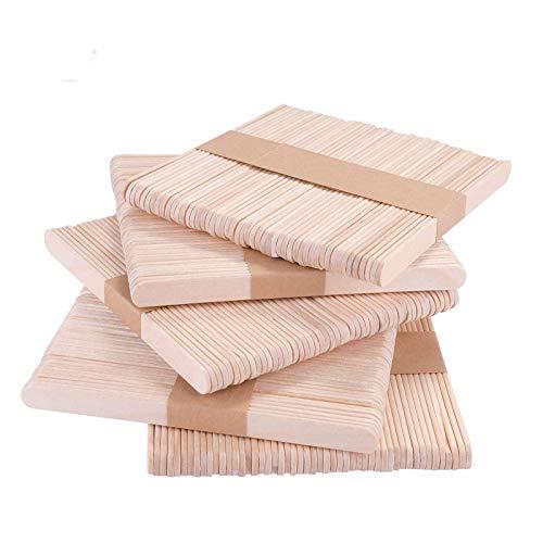 KATELUO batonnet bois, batonnet de glace,Bâtons de bois bricolage, bâtons d'artisanat en bois naturel, Idéal pour les bricolages et l'artisanat