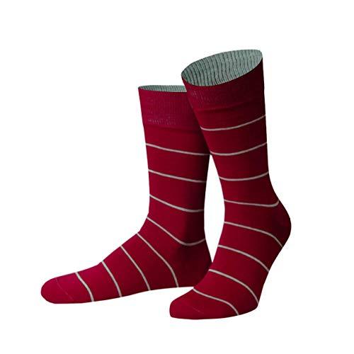 von Jungfeld - Herren Socken/Strumpf Herrensocken Kringel 39-42 rot
