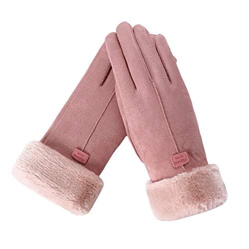 FAMOORE Handschuhe & Fäustlinge für Damen Winter Handschuhe Touchscreen Handschuhe Verdickt Kalt Wetter Handschuhe für Party Wandern Reisen Und Radfahren (Pink)