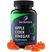 Organic Apple Cider Vinegar Gummies (60ct x 500mg) - Raw Unfiltered ACV with The Mother for Immunity, Detox, Digestion, Cleanse & Weight Loss. Vegan Alternative to ACV Capsules, Tablets & Pills