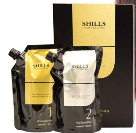 Shills Professional Hair Straightening Cream + Neutraliser For Resistant Hair (1000 ml)