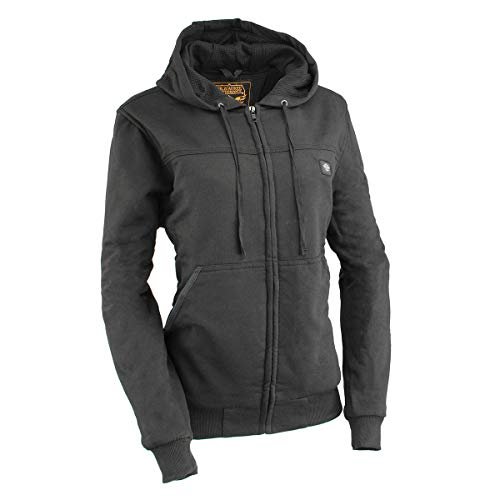 Milwaukee Leather MPL2713SET Ladies Black Hoodie with Heating Elements (Battery Pack Included) -...