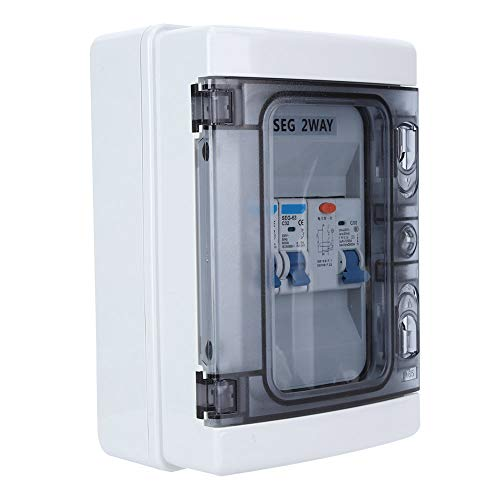 Residual Current Circuit Breaker Protection Against Leaks 40A 30mA RCD +2MCB (6A +32A)