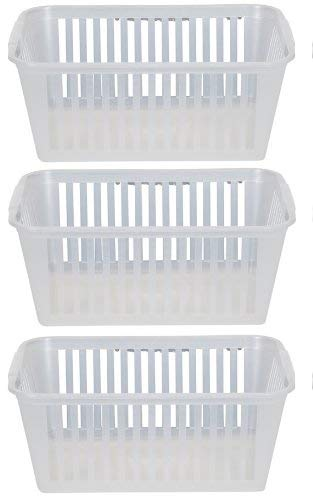 37cm Clear Plastic Handy Basket Storage Basket - Set Of 3