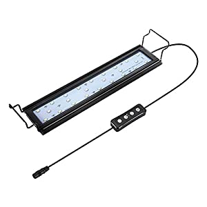 hygger 9W-32W Aquarium Light, Dimmable LED Aquarium Light with Timer, Aluminum Alloy Shell Extendable Brackets, External…