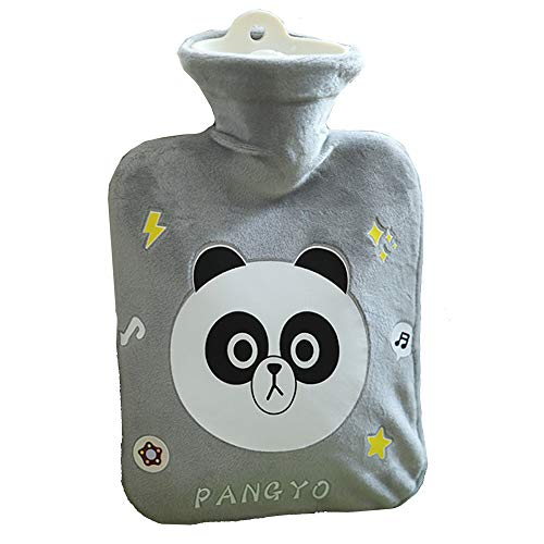 DXWSLHHD Hot Water Bottles with Cover (500ml,Soft Hot Water Bag for Back, Neck, Waist, Legs, Bed Warm - Best Gift for Santa Gifts