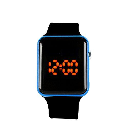 Runrain Herren Damen Silikon LED Sport Armbanduhr Digital Armband Armbanduhr