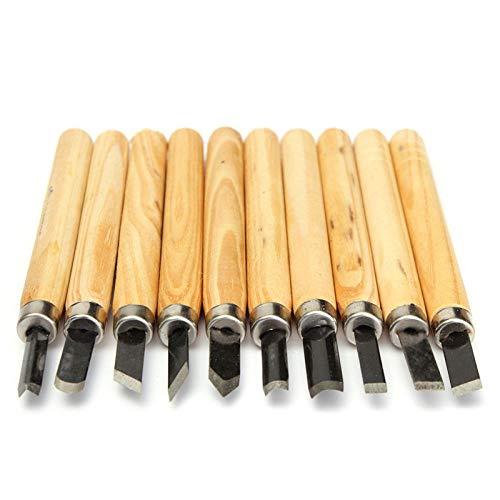 10 unids/lote cuchillo de cinceles para tallar madera para herramientas de mano de gubias de carpintería detalladas y herramientas básicas de bricolaje para cortar madera, como se muestra