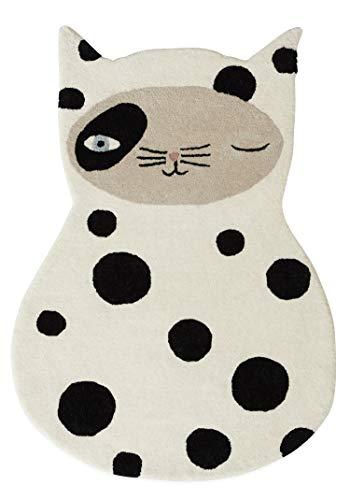 OYOY Mini tapis de jeu Zorro Cat - Tapis décoratif pour chambre d
