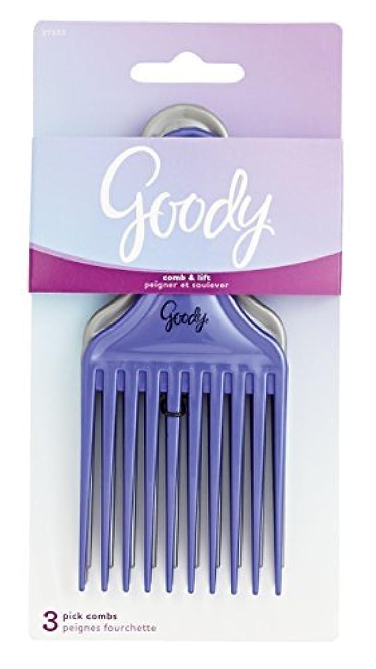 果てしない契約した靴下Goody Comb & Lift Hair Pick, 3 Count, Assorted Colors [並行輸入品]